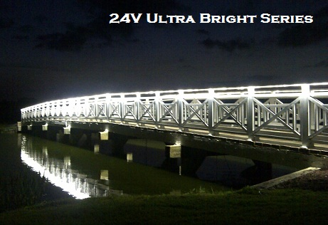 24v ultra bright led strip light bridge install example