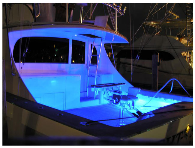 LED strip light example boat marine