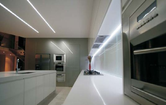 LED strip lights under cabinet