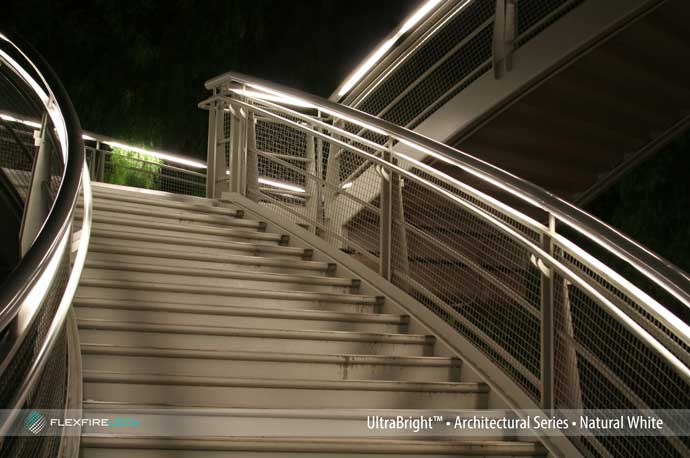 architectural handrail lighting shopping mall