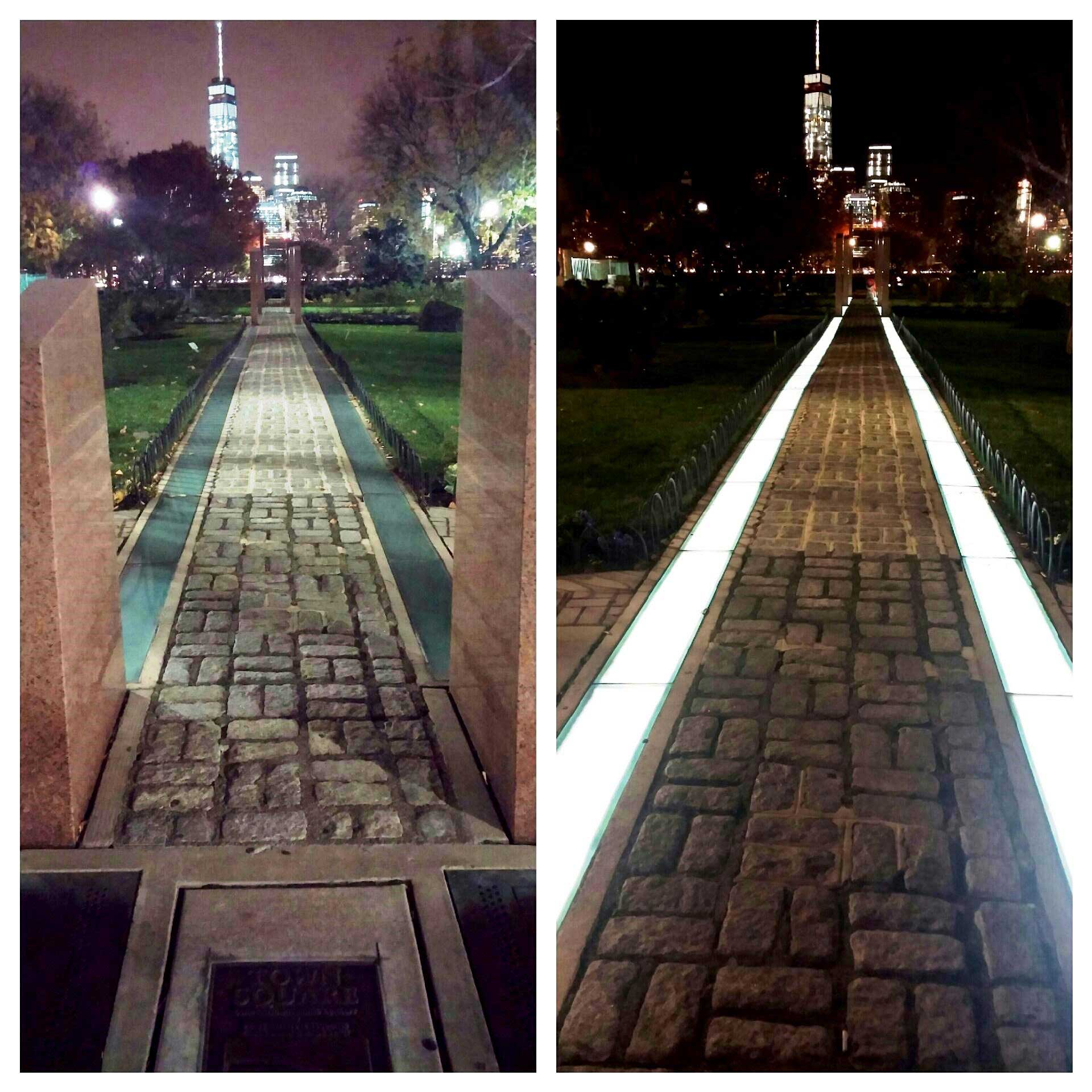 architectural memorial lighting in park
