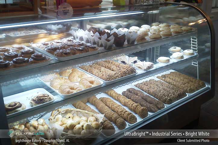 bakery display case led lighting example