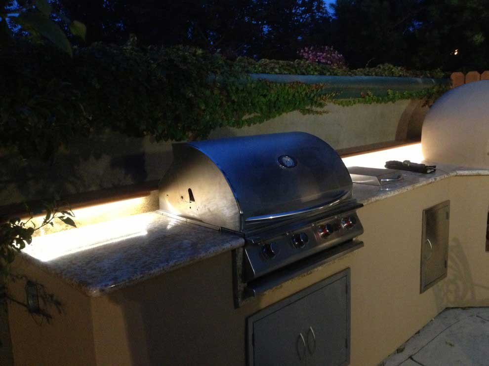 bbq under bar lighting outdoor flexfire