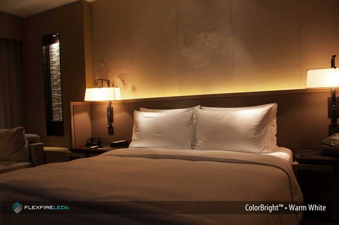 Charming Bed Headboard Accent Lighting Strips
