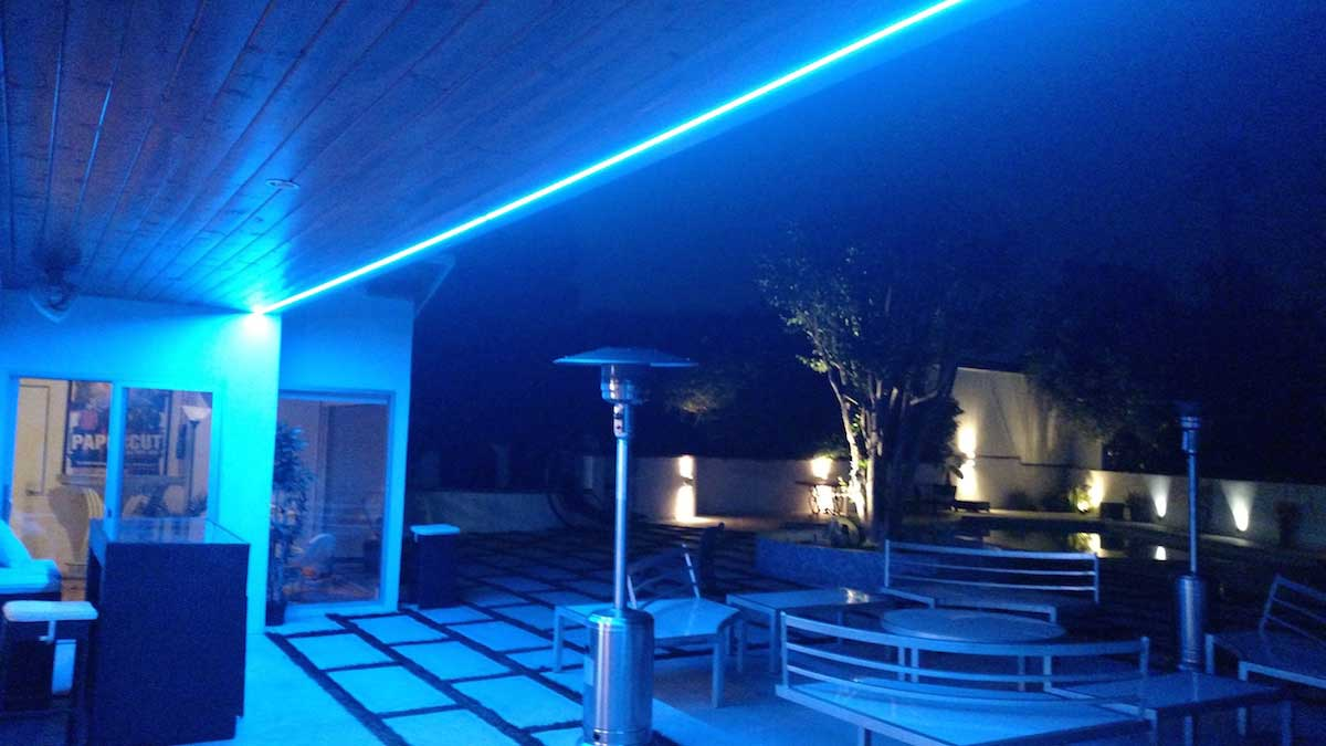 Residential led strip lighting projects from flexfire leds brightest outdoor blue patio lights mozeypictures Gallery