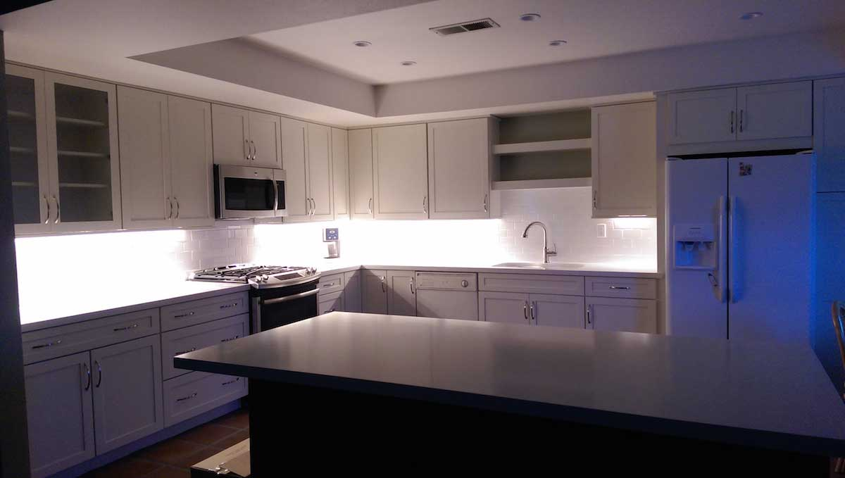Residential led strip lighting projects from flexfire leds brightest under cabinet strip lights aloadofball Choice Image