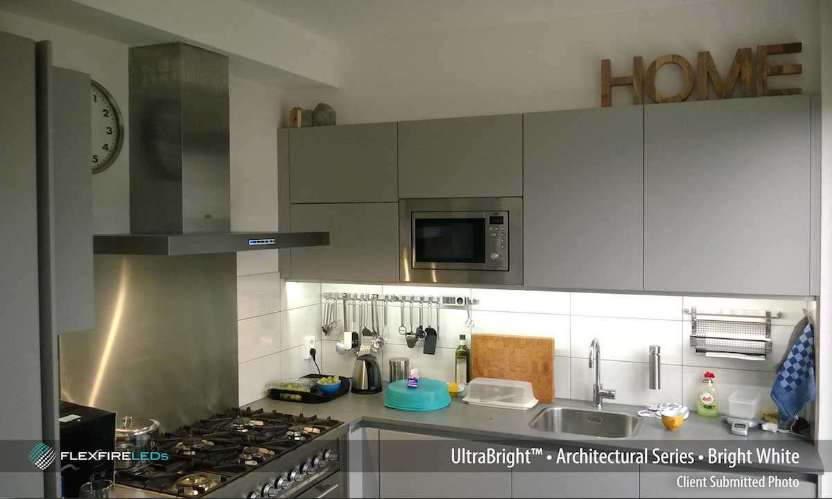 how to use LED strips under cabinets