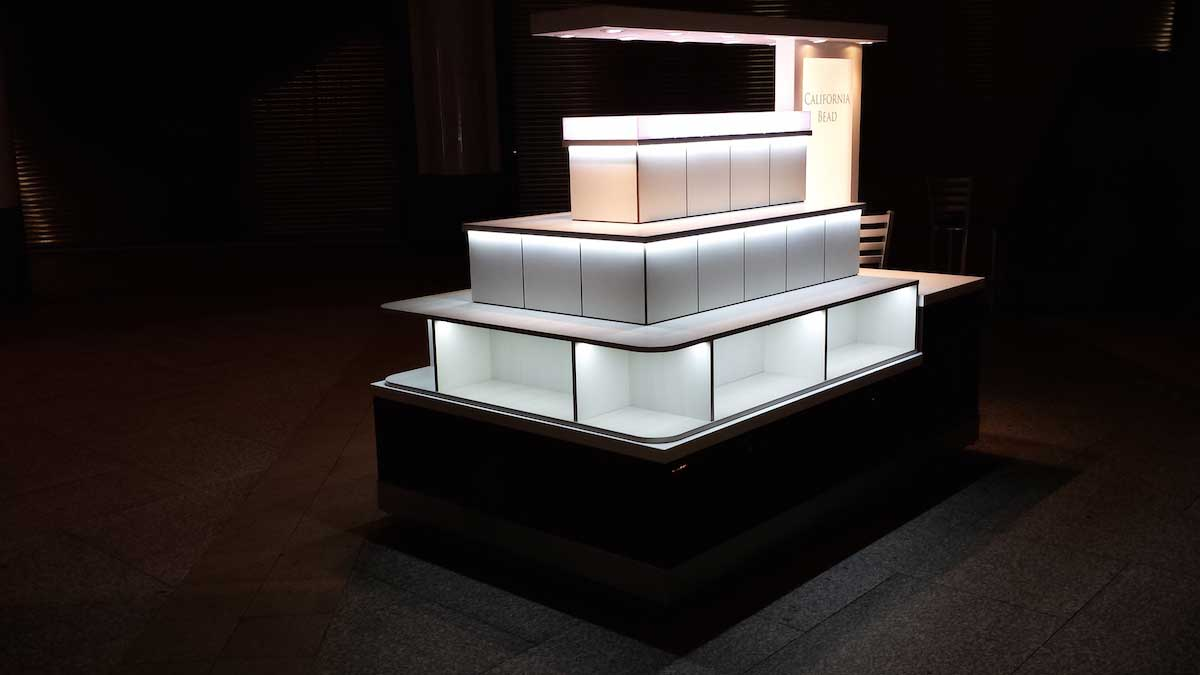 kiosk product lighting with LED strips 03.