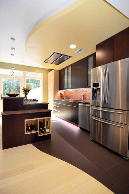 LED under cabinet lighting in kitchen example 1