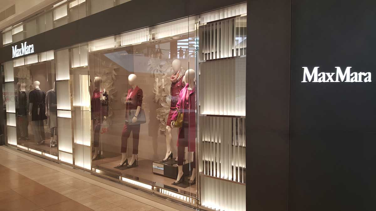 maxmara storefront lighting design FlexfireLEDs.