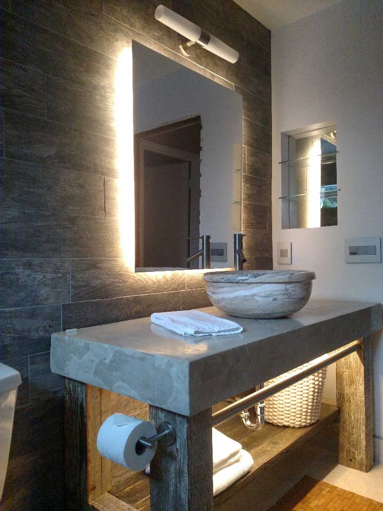 Modern bathroom lighting design LED strip
