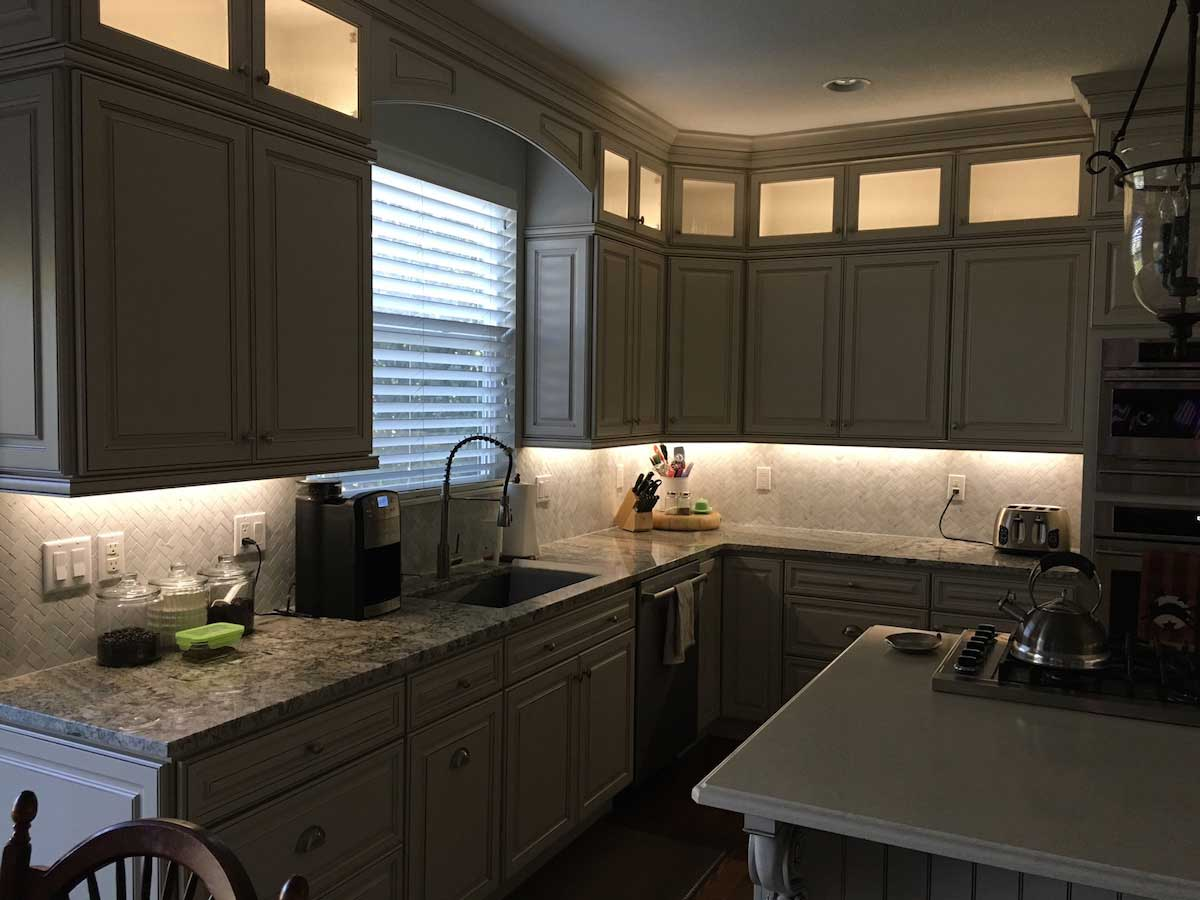 Kitchen Counter Lighting Residential Led Strip Lighting Projects From Flexfire Leds