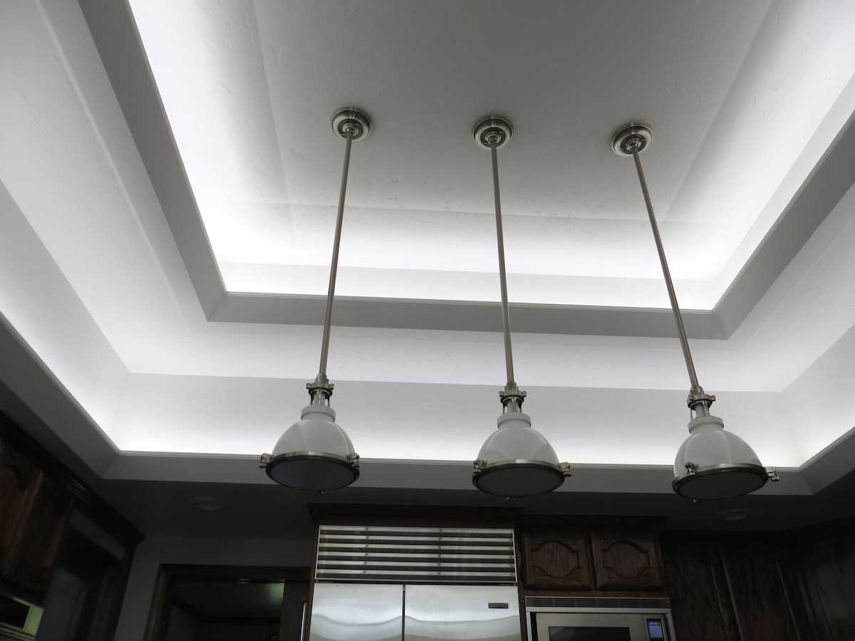 Modern kitchen LED cove lighting 4