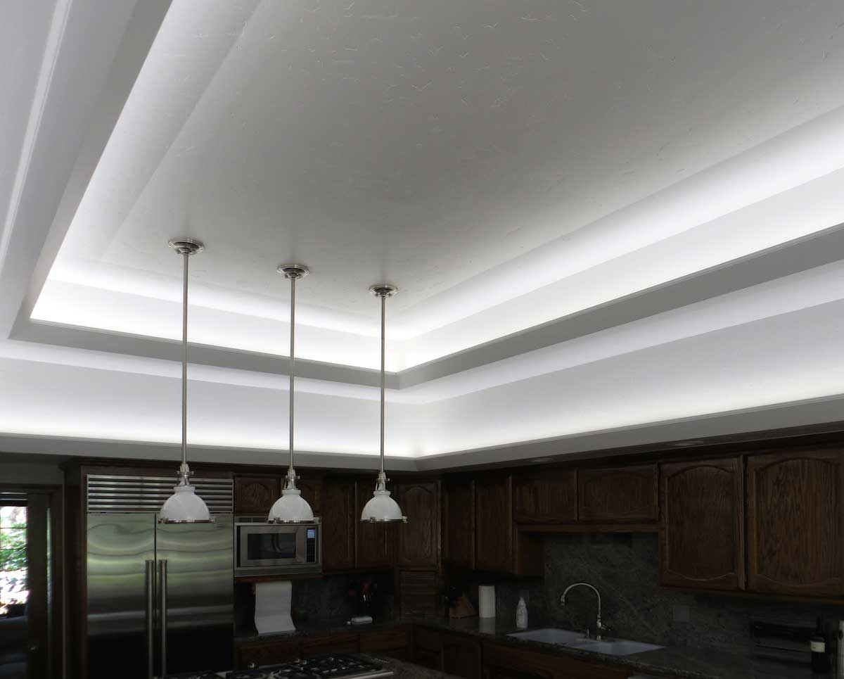 Modern kitchen LED cove lighting 5