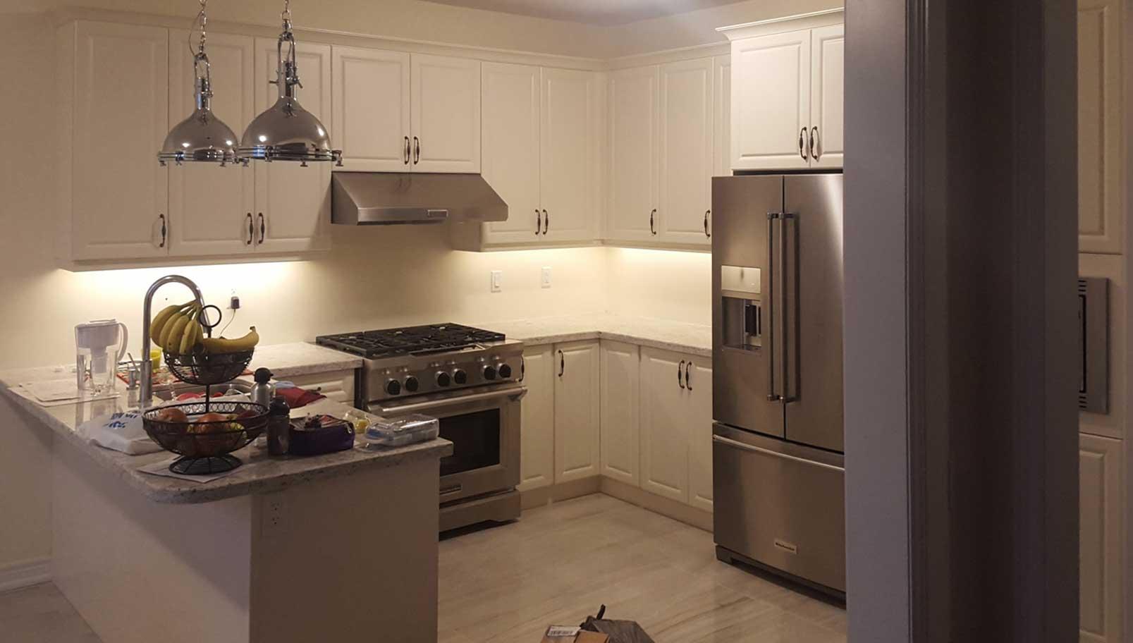 Modern kitchen lighting design cabinets