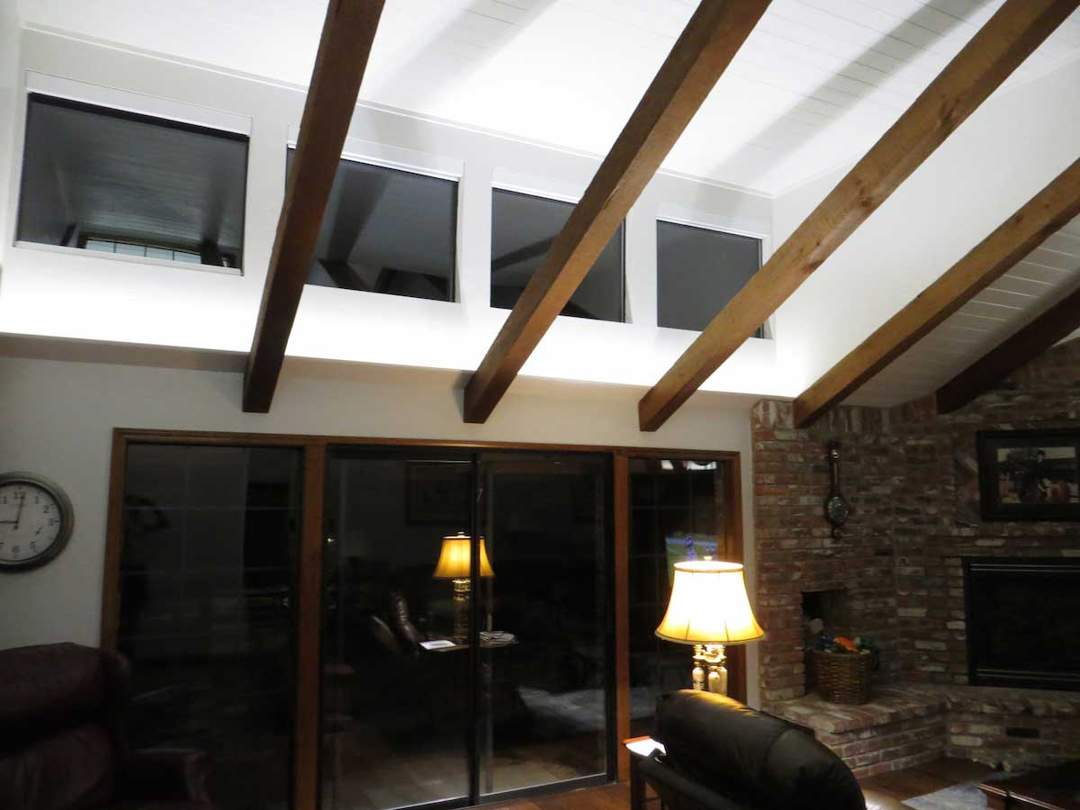 Living Room Uplighting residential led strip lighting projects from flexfire leds