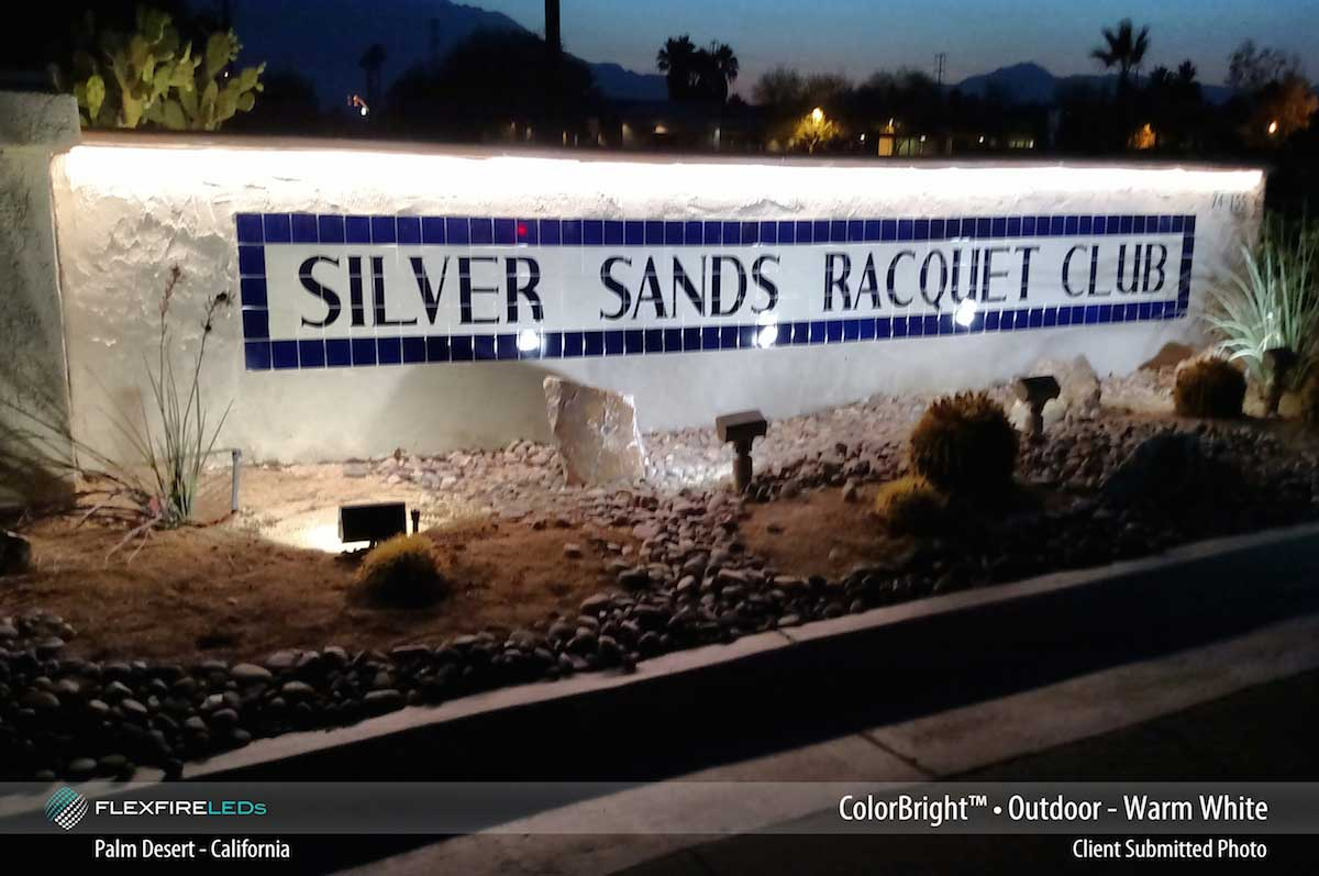 outdoor signage accent lighting