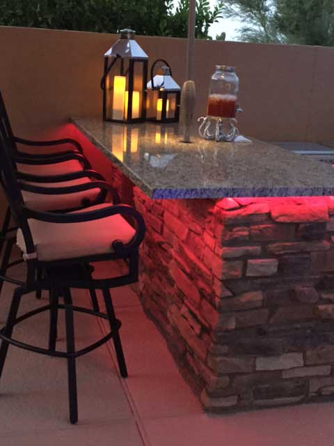 patio bbq rgb strip lights