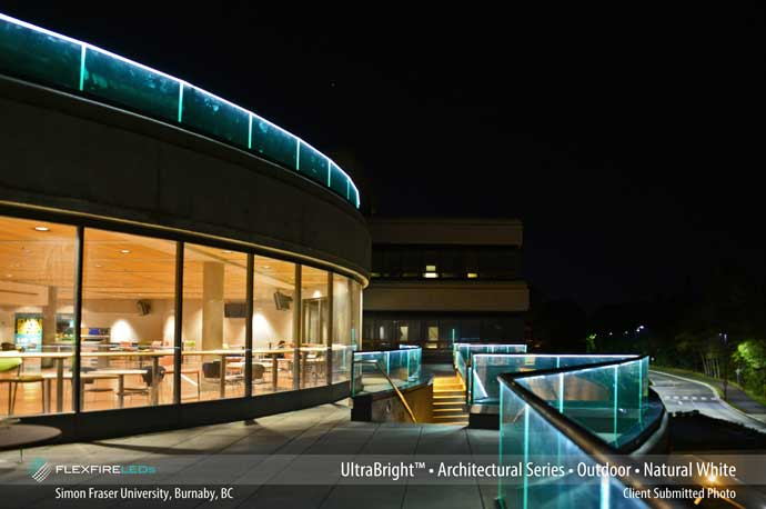simon fraser university LED handrail lighting