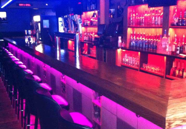 commercial bar lighting. Commercial LED Strip Lighting Projects From Flexfire LEDs Bar